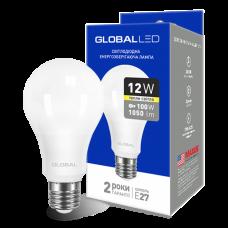 Светодиодная LED лампа GLOBAL A60 12W мягкий свет 220V E27 AL 1-GBL-165