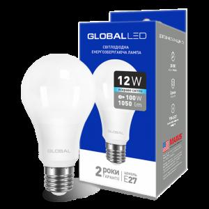 Светодиодная LED лампа GLOBAL A60 12W яркий свет 220V E27 AL 1-GBL-166