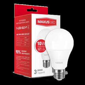 Светодиодная LED лампа MAXUS A60 10W яркий свет E27 1-LED-562-P