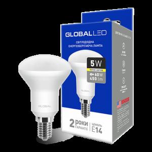 Светодиодная LED лампа GLOBAL R50 5W мягкий свет 220V E14 1-GBL-153