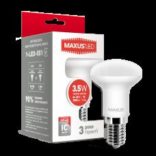 Светодиодная LED лампа MAXUS R39 3.5W теплый свет E14 1-LED-551