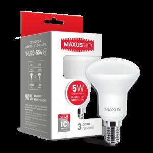 Светодиодная LED лампа MAXUS R50 5W яркий свет E14 1-LED-554