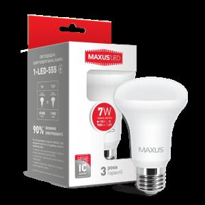 Светодиодная LED лампа MAXUS R63 7W мягкий свет E27 1-LED-555