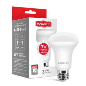 Светодиодная LED лампа MAXUS R63 7W яркий свет E27 1-LED-556