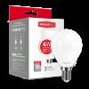 Светодиодная LED лампа MAXUS G45 F 4W мягкий свет E14 1-LED-5411
