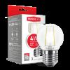 Светодиодная LED лампа MAXUS филамент G45 4W яргкий светE27 1-LED-546