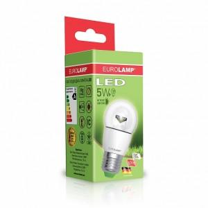 Светодиодная лампа LED ЕКО G45 прозрачная 5W E27 3000K
