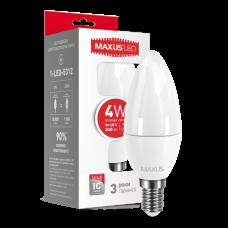 Светодиодная LED лампа MAXUS C37 CL-F 4W яркий свет E14 1-LED-5312