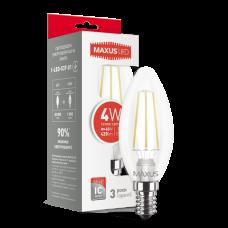 Светодиодная LED лампа MAXUS C37 FM-C 4W 3000K E14 1-LED-537-01