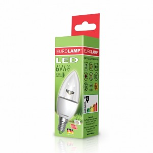 Светодиодная лампа LED ЕКО CL прозрачная 6W E14 3000K