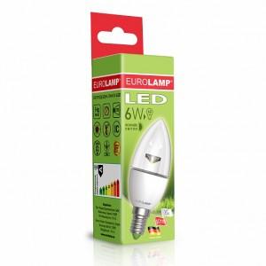 Светодиодная лампа LED ЕКО CL прозрачная 6W E14 4000K