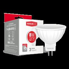 Светодиодная LED лампа MAXUS MR16 8W мягкий свет GU5.3 1-LED-515