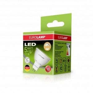 Светодиодная лампа LED ЕКО dimmable MR16 5W GU5.3 4000K