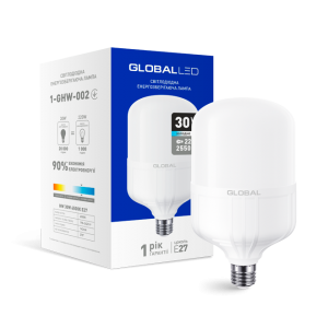 Светодиодная LED лампа HW GLOBAL 30W 6500K E27 1-GHW-002