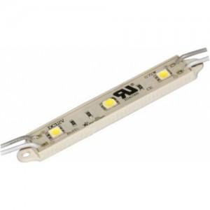 Светодиодный модуль LED SMD 5050, 3 светодиода, IP65 (влагозащ.), синий