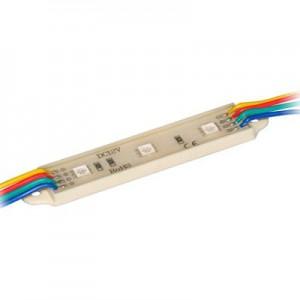 Светодиодный модуль LED SMD 5050, 3 светодиода, IP65 (влагозащ.), RGB