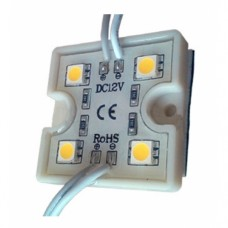 Светодиодный модуль LED SMD 5050, 4 светодиода, IP65 (влагозащ.), теплый белый
