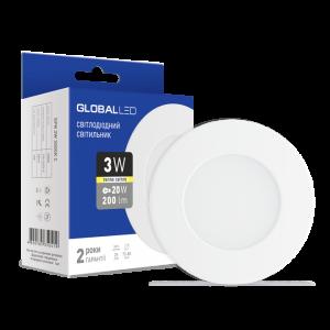Светильник светодиодный GLOBAL LED SPN 3W мягкий свет 1-SPN-001