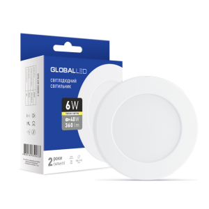 Светильник светодиодный GLOBAL LED SPN 6W мягкий свет 1-SPN-003
